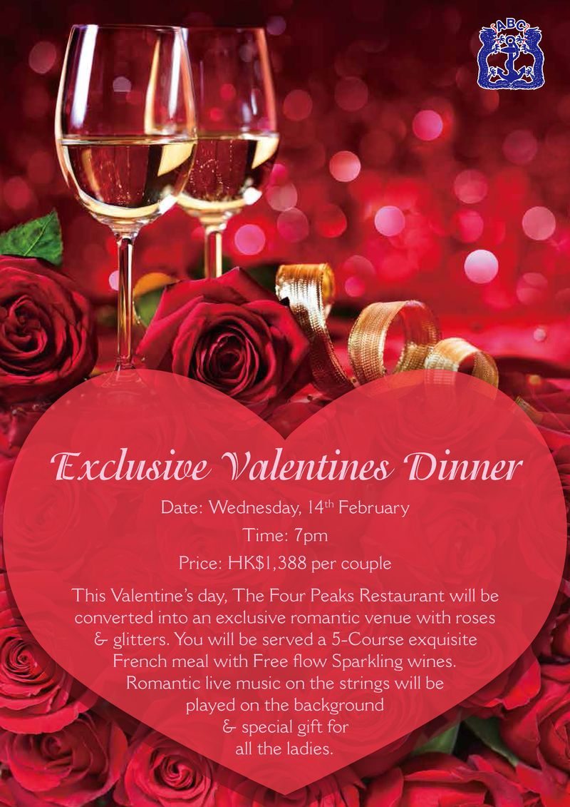 Aberdeen Boat Club Exclusive Valentines Dinner